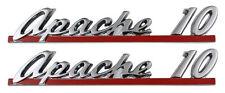 1961 Chevy Apache Front Fender Hood Emblem Chevrolet Apache 10 Pair