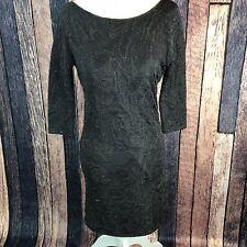 50de12e2e55 Zara Trafaluc Collection M Black Shimmer Bodycon Dress Cocktail Formal  3 4sleeve