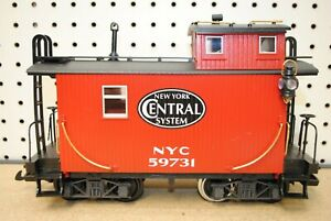 LGB NYC New York Central System #59731 Four-Axle Caboose Car w/Lights *G-Scale*