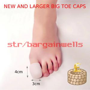 Pair of Big Toe Silicone Gel Protector Ingrown Toenail Corn Soft Cushion Pad Cap