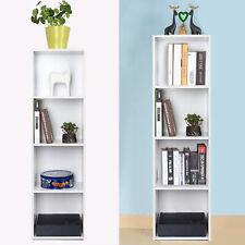 Bücherregal Aktenregal 4 Fächer Standregal Raumteiler Büroregal Regal Weiß