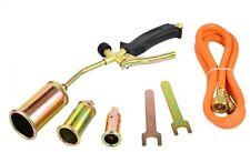 Propane Butane Gas Heating Torch Burner Hose Regulator Roofers Plumbers Kit BEST