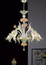 Chandelier murano -1002/5 Crist. Gold colorful- Mont.gold Workshops murano