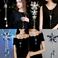 Choker Chain Pendant Dangle Wedding Tassels Gift Women Necklace Crystal Sweater