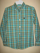 Cinch Boys Western L/ S Plaid Shirt ~  Sz S ( 6/8) EUC