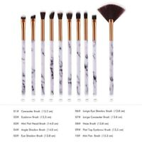 1 Set Marble Makeup Brushes Set Blending Face Powder Eye Shadow Brush Kit Shan