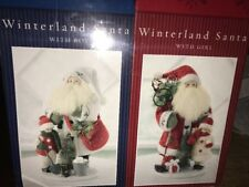 New Kirkland Signature Santa Figurine Winterland Santa With Boy & With Girl