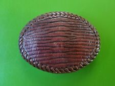 Handcrafted Snake Skin Replica Leather Belt Buckle Mr. G's Leather Craft
