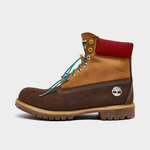 Timberland Men's Premium 6 Inch Waterproof Wheat/Brown Leather Boots A2NC8