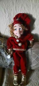 Jacqueline Kent Christmas Collection Shortcake Elf Hanging Doll 342251