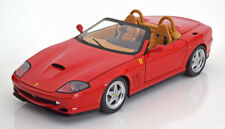1:18 Hot Wheels Elite Ferrari 550 Barchetta Pininfarina 2001 red