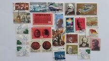 25 Diferentes Alemania Colección de sellos-Post 1949 East/DDR Hojas De Recuerdo
