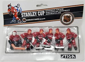 Stiga Detroit Redwings Table Rod Hockey Players New In Original Packaging