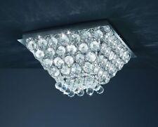 Trio Kristall Design Deckenleuchte KAIRO 12x20W 50cm Glas Lampe 665911206 Neu