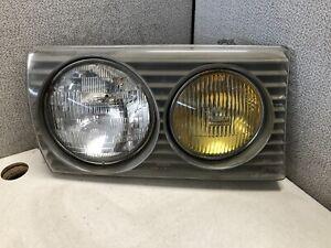 1980-1985 Mercedes-Benz W123 Headlight 240D 280 300D Yellow Fog Right Passenger