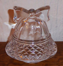 Cristal d' Arques Crystal Standing Christmas Holiday Bell Votive Candle Holder