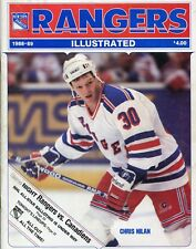 NOV.21, 1988 RANGERS ILLUSTRATED..NEW YORK RANGERS vs MONTREAL CANADIENS