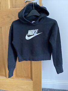 Girls Nike Cropped Hoody Age 10-12 Yrs Size Medium VGC £40 When New, Black