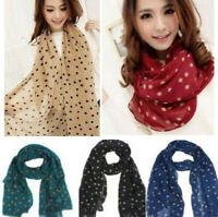 New Arrive Fashion Women's Long Wrap Lady Shawl Polka Dot Chiffon Scarf Scarves