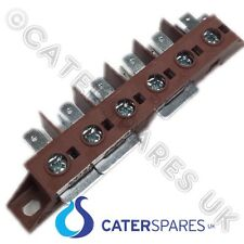 PIZZA OVEN HIGH TEMPERATURE TERMINAL 6 POLE CABLE CONNECTOR BLOCK 40A OVEN PARTS
