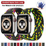 Nylon Braided Solo Loop Strap For Apple Watch Series 6 SE 5 4 3 2 38/40/42/44 mm