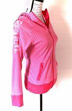 Bench Pink Checkered BBQ Hoodie Sweater Zip Up Zipper Jacket Checks Medium M