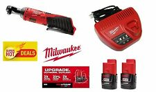 MILWAUKEE M12 LITHIUM-ION RATCHET TOOL 2457-20,TWO 2.0 BATTERY,CHARGER