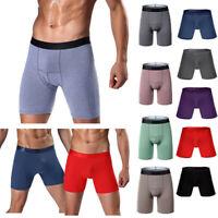 Men's Sports Underwear Shorts Long Running Wear Leg Multi-function Boxer Briefs