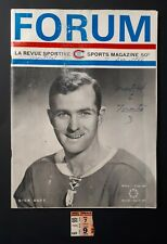 1966 Montreal Canadiens TICKET STUB & PROGRAM vs Toronto Maple Leafs