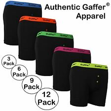 Mens Authentic Gaffer Brand Designer Neon Rib Boxer Shorts Underwear Trunks