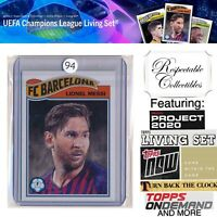 2019 Topps UCL Living Set UEFA Champions League #1 Lionel Messi FC Barcelona