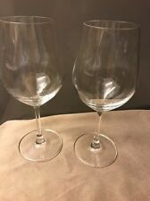 "2 Cuisinart - Classic Collection 9"" Etched Long Stem Crystal White Wine Glasses"