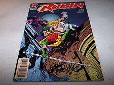 SIGNED MIKE WIERINGO ROBIN #17 DC 1ST PRINT BATMAN'S CRIME FIGHTING PARTNER