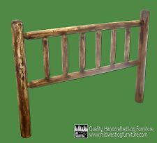 Torched Cedar Log Headboard - King $219- FREE SHIPPING