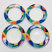 """Victoria & Beale Accents Porcelain 8 3/4"""" Soup Pasta Bowls Set of 4 Pattern 9019"""