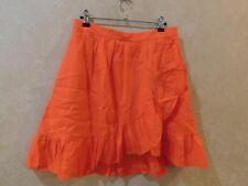 New J.Crew Linen Ruffle Skirt Orange Knee Length Sz  G4590 $79.50 _________ R6C3