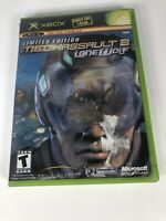 MechAssault 2 Lone Wolf Microsoft Xbox Complete w/ Manual