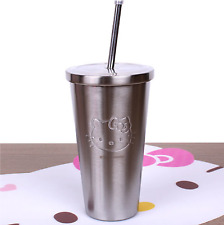 Hello Kitty Tumbler Thermos Water Bottle Stainless Steel Vacuum 550ml(18.6oz)