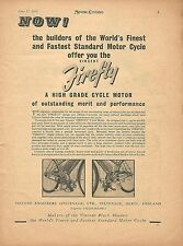 Vintage Vincent Firefly Ad, 1953, Clip-On Engine for Bicycles