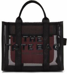 MARC JACOBS The Traveler Black Mesh Logo Eco Shopper Tote $225.00 #708SW