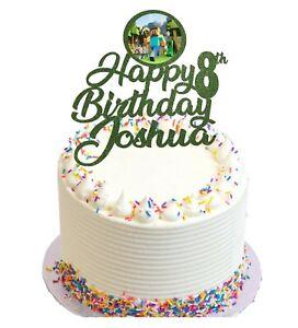 Mine craft Themed Birthday Glitter Cake Topper