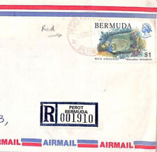 BT264 1979 Bermuda *Perot* RED CDS Commercial Registered Airmail Cover{samwells}