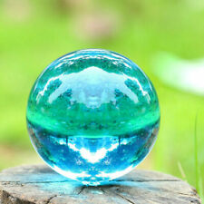 Asian Rare Natural Quartz blue Magic Crystal Healing Ball Sphere 40mm + Stand