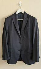HERRINGBONE 'Dailey' Midnight Blue Pindot-Weave Jacket - 100% Wool - Size 40R