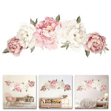 Etiqueta engomada de la flor de peonía creativo Pegatinas de Pared Casa Pared Dormitorio Arte para Decoración de 40*60cm