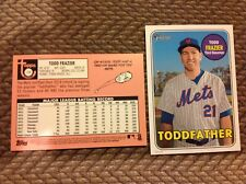Todd Frazier 718 Toddfather 2018 TOPPS HERITAGE NICKNAME High number 5x7 49 made