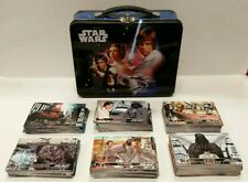 STAR WARS Lunch Box 2010 Tin Box Co Embossed Metal New hope 210 topps cards lot