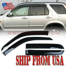 Smoke Window Side Vent Visor Sun Rain Guard Front + Rear for 1997-2001 Honda CRV