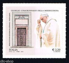 ITALIA 1 FRANCOBOLLO GIUBILEO STRAORDINARIO DELLA MISERICORDIA PAPA 2015 nuovo**