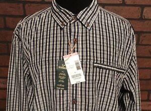 Outdoor Life Travel Shirt Button Down Plaid Blue Men's Size XL NEW